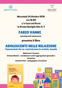 """""""Adolescenti nelle relazioni"""" Presentazione del libro con Fabio Vanni"""