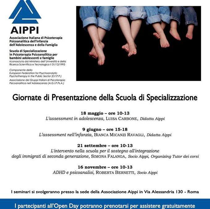 """Open Day 2018 Scuola di Specializzazione AIPPI.  Seminario """"ADHD e psicoanalisi"""""""