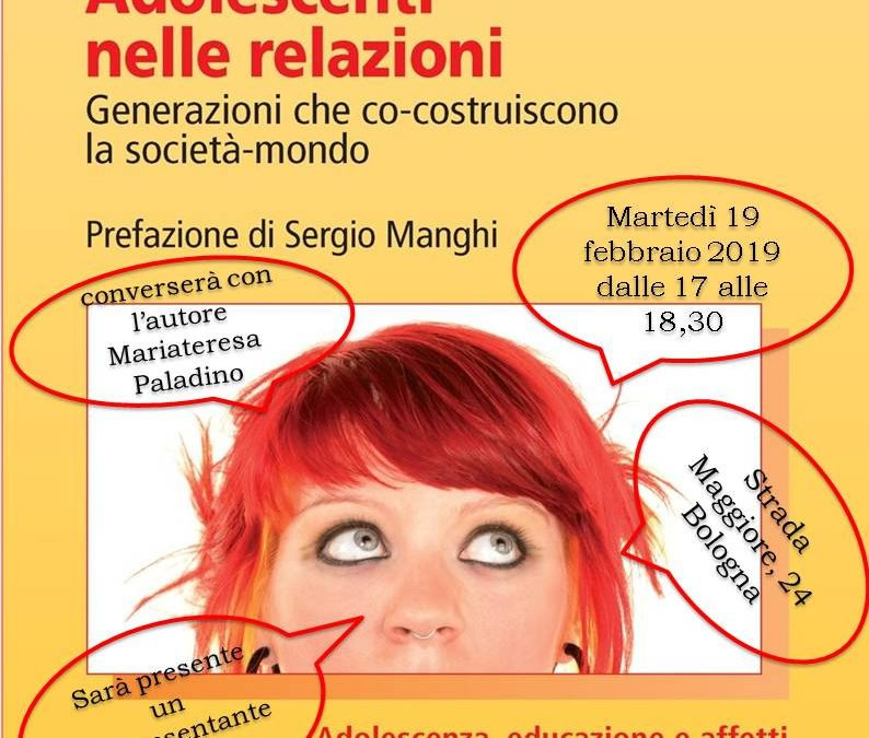 """Presentazione del libro """"Adolescenti nelle relazioni"""" di Fabio Vanni"""