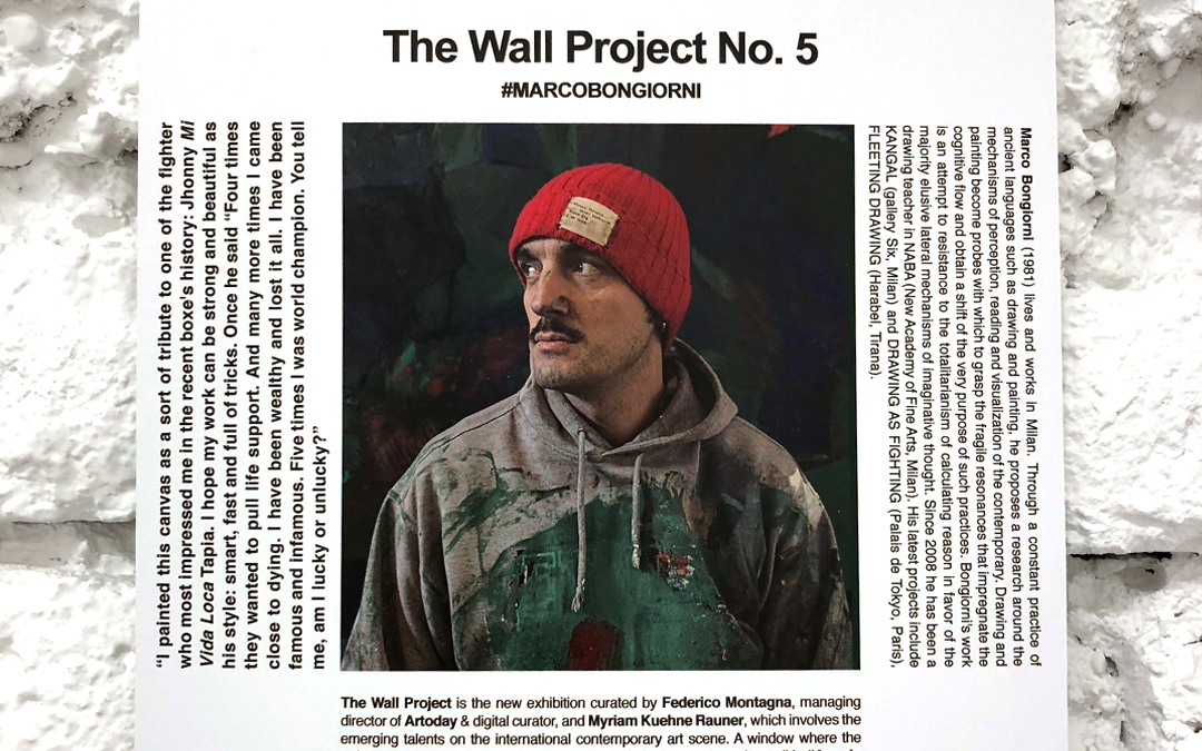"""THE WALL"" Project N.5 – With the Italian artist Marco Bongiorni"