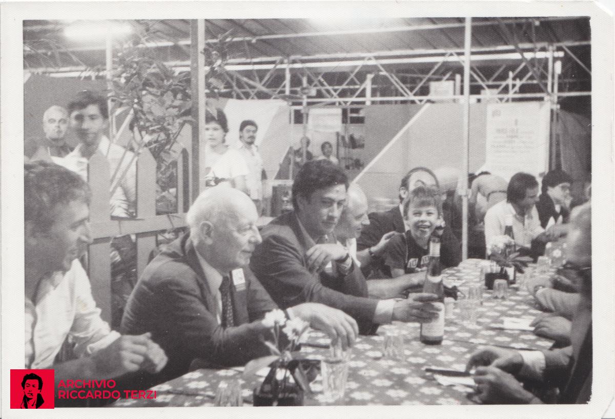 Festa dell'unità, con Gian Carlo Pajetta e Edgardo Bonalumi