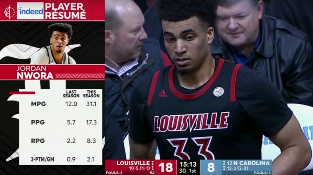 BasketballNcaa - Louisville - Jordan Nwora