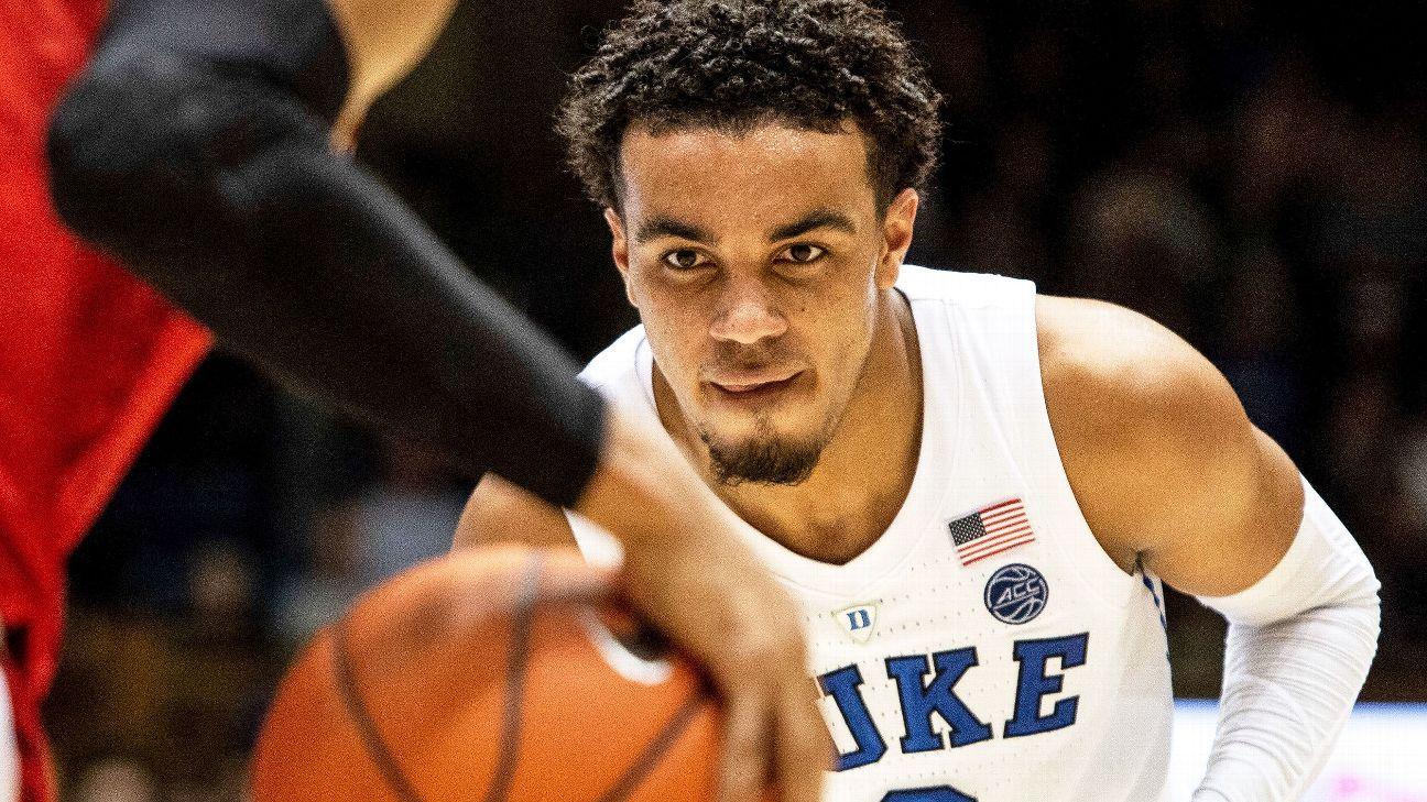 BasketballNcaa - Duke - Tre Jones