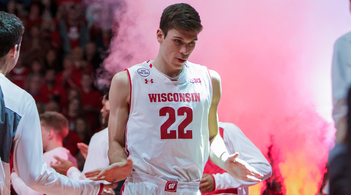Ethan Happ, an old fashioned big guy from Wisconsin