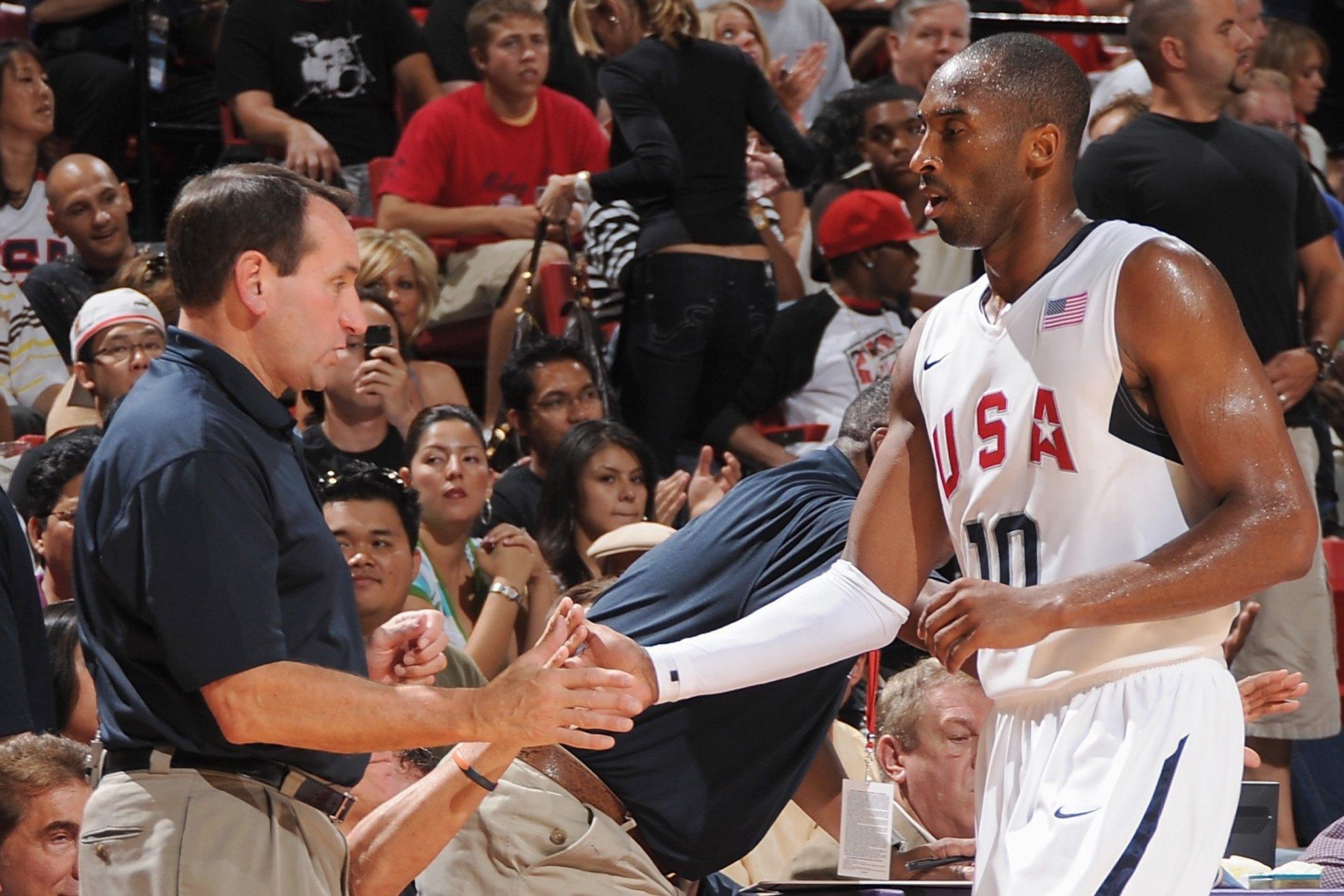 Kobe Bryant coach K Ncaa