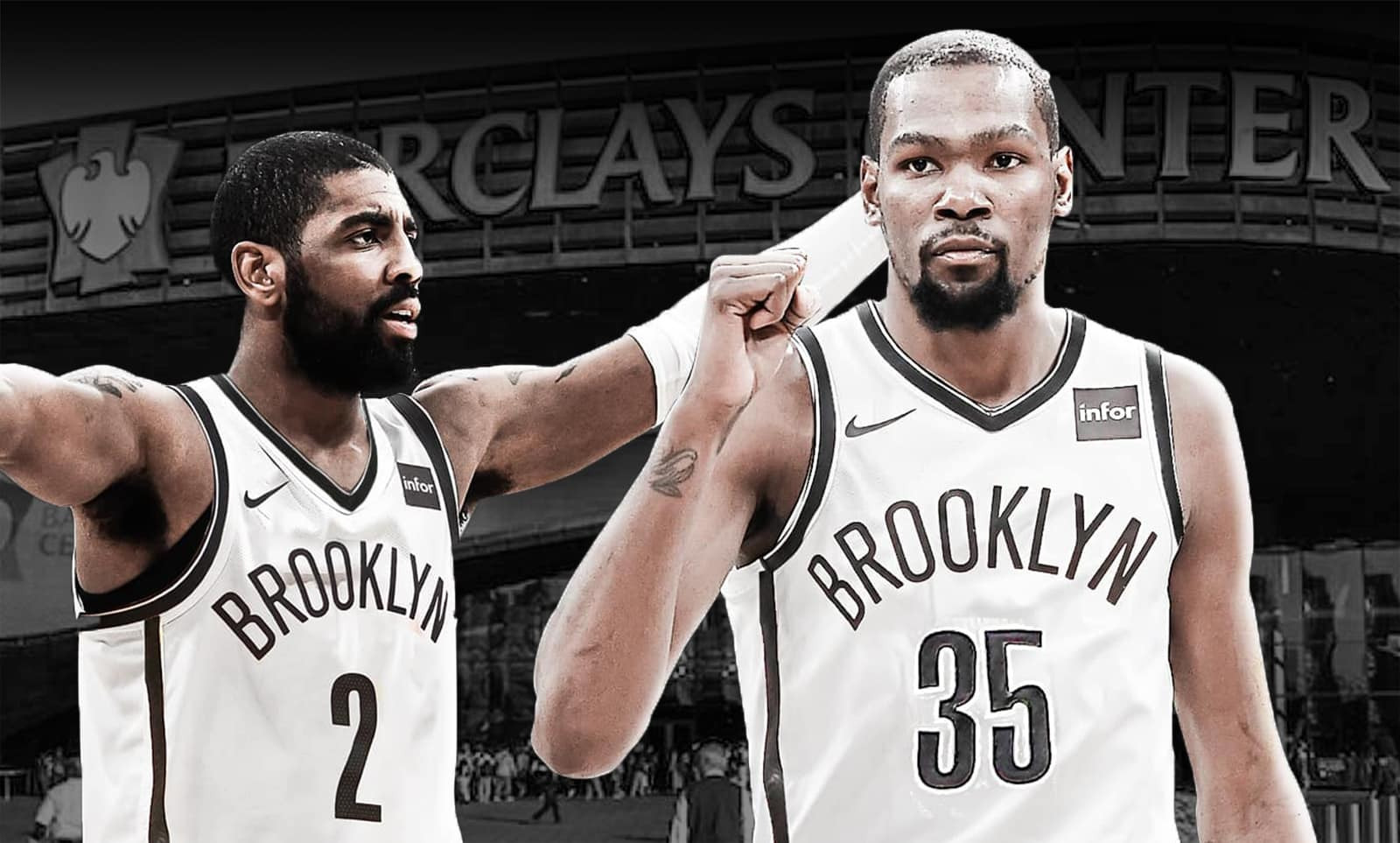 Brooklyn Nets - Kyrie Irving e Kevin Durant
