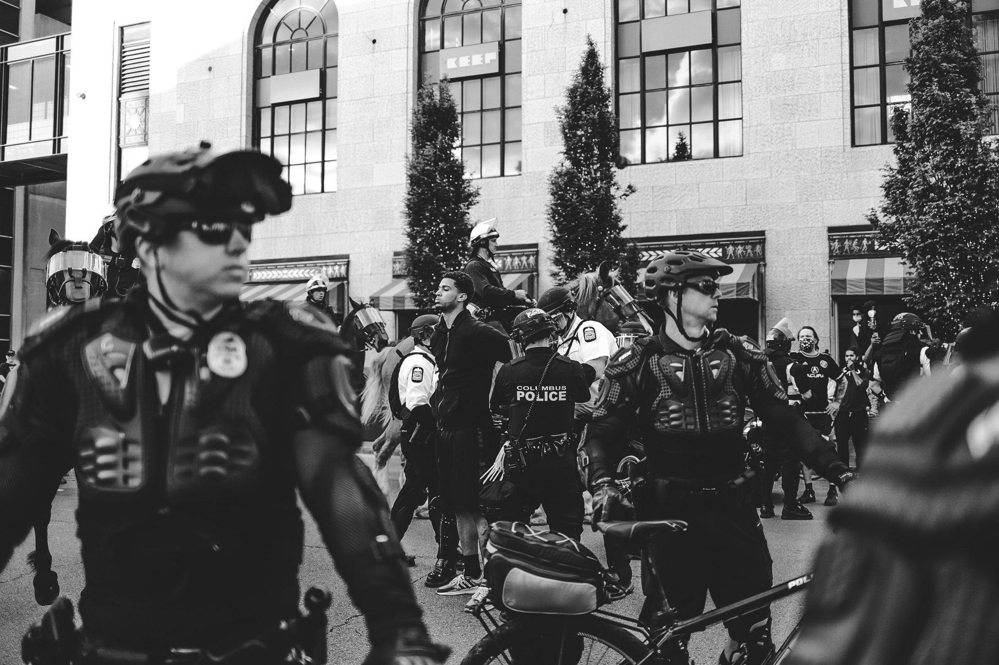 Seth Towns George Floyd protest