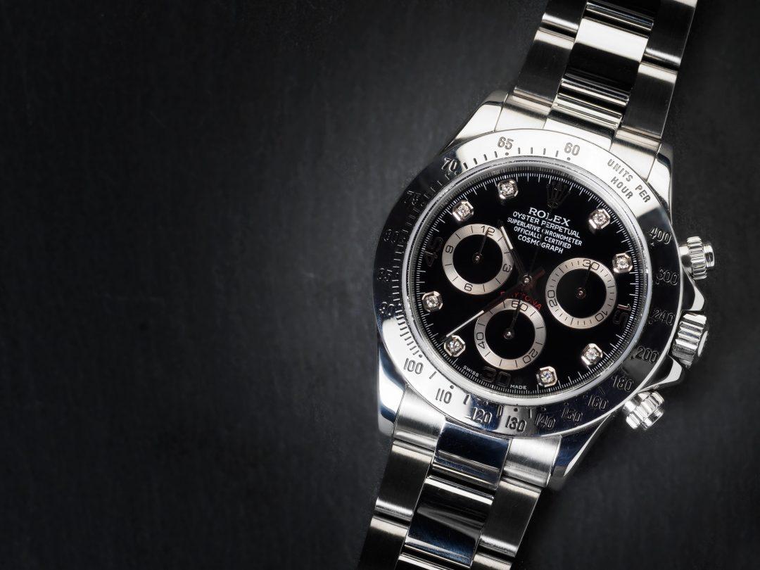 Rolex Daytona in acciaio con diamanti Ref. 116520