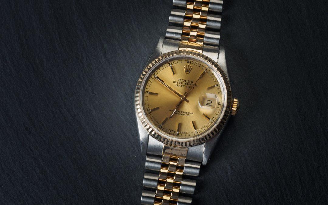Rolex Date Just in oro e acciaio Ref. 16233