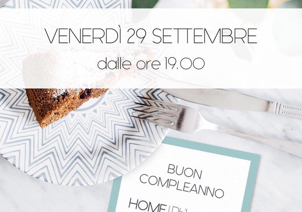 Compleanno HOME|Philosophy