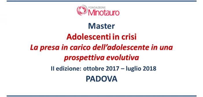 """Master """"Adolescenti in crisi"""" – II edizione"""