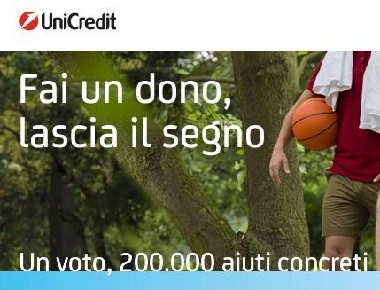 """""""Un voto, 200.000 aiuti concreti"""""""