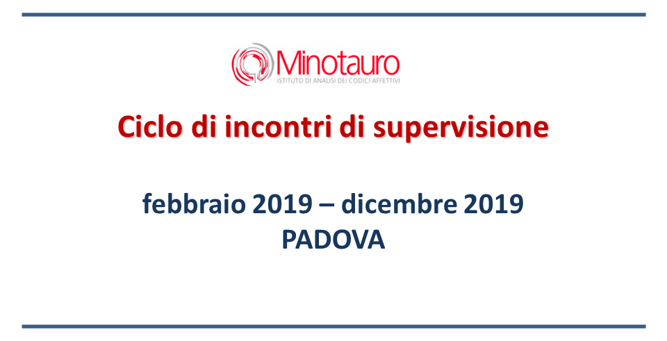 Ciclo di incontri di supervisione 2019 – Padova