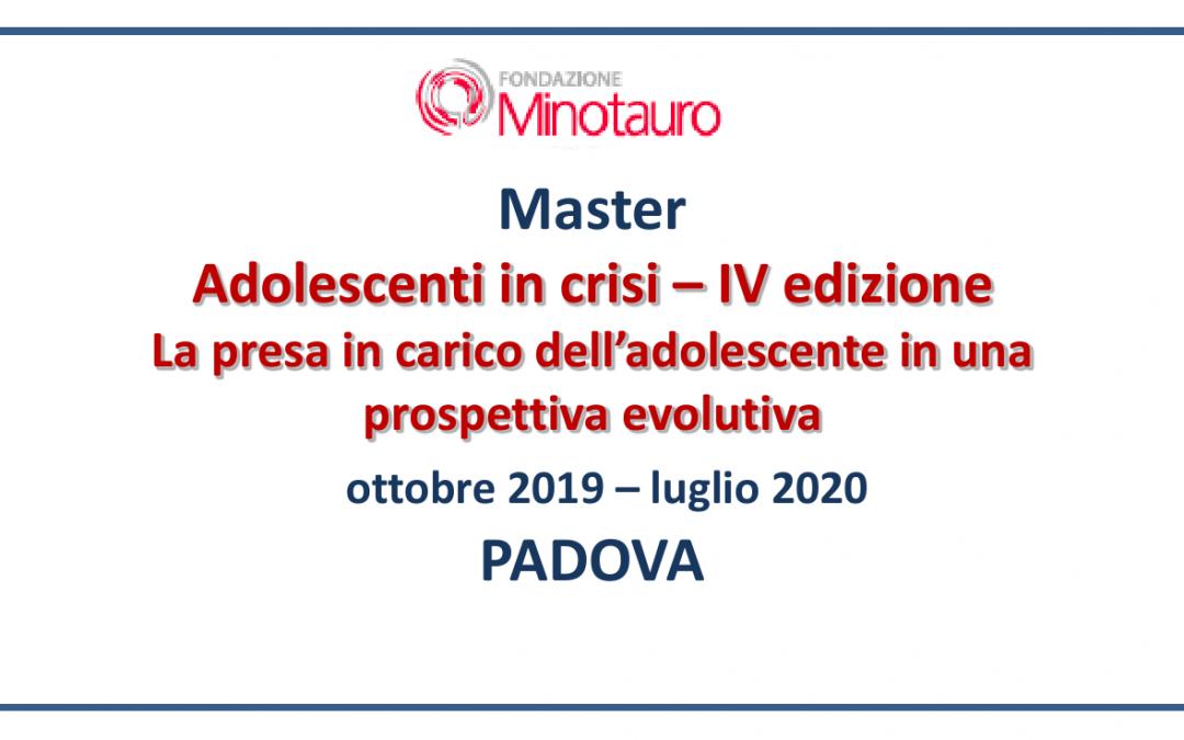 """Master """"Adolescenti in crisi"""" – 2019-2020"""