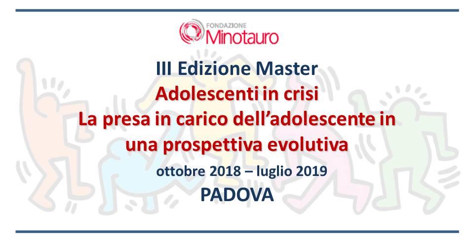 """Master """"Adolescenti in crisi"""" – TERZA EDIZIONE"""