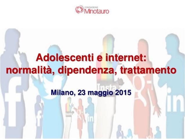 Adolescenti e internet: normalità, dipendenza, trattamento