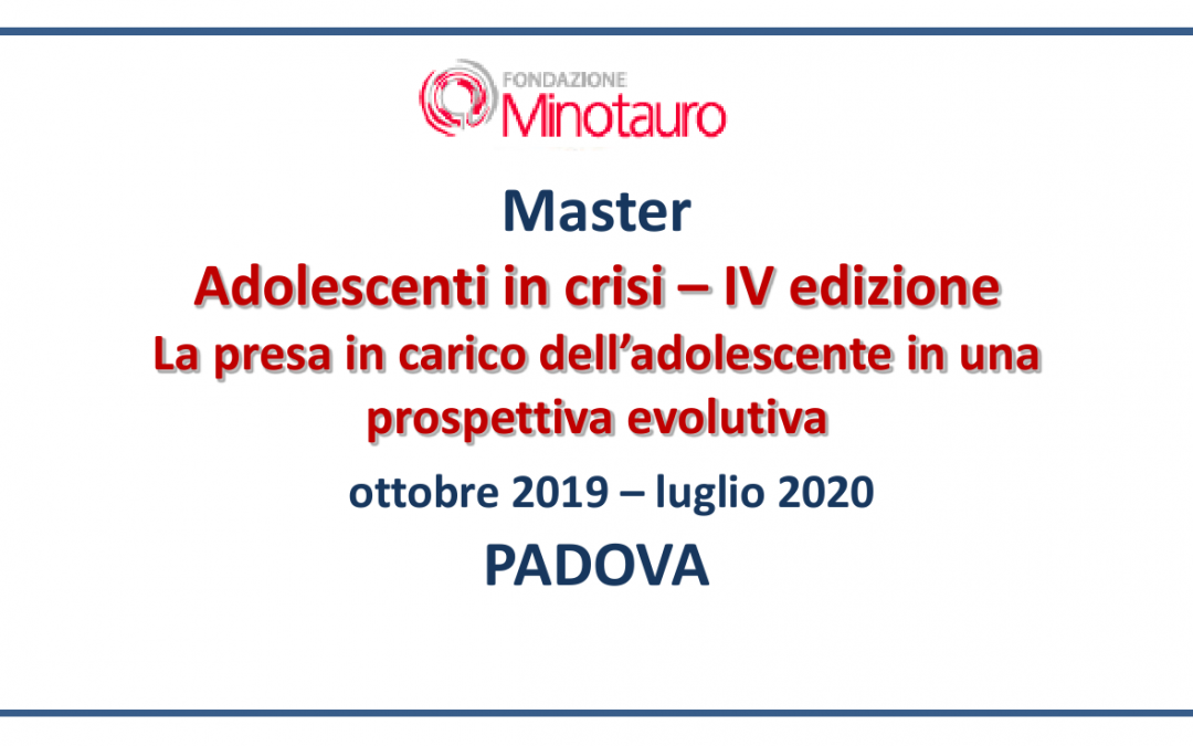 "Master ""Adolescenti in crisi"" – 2019-2020"