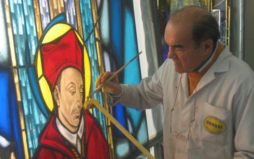 Grassi stained glass: painting with light | 3° encounter (in Italian)