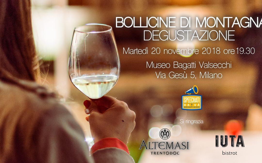 Mountain bubbly: a wine tasting (in Italian)