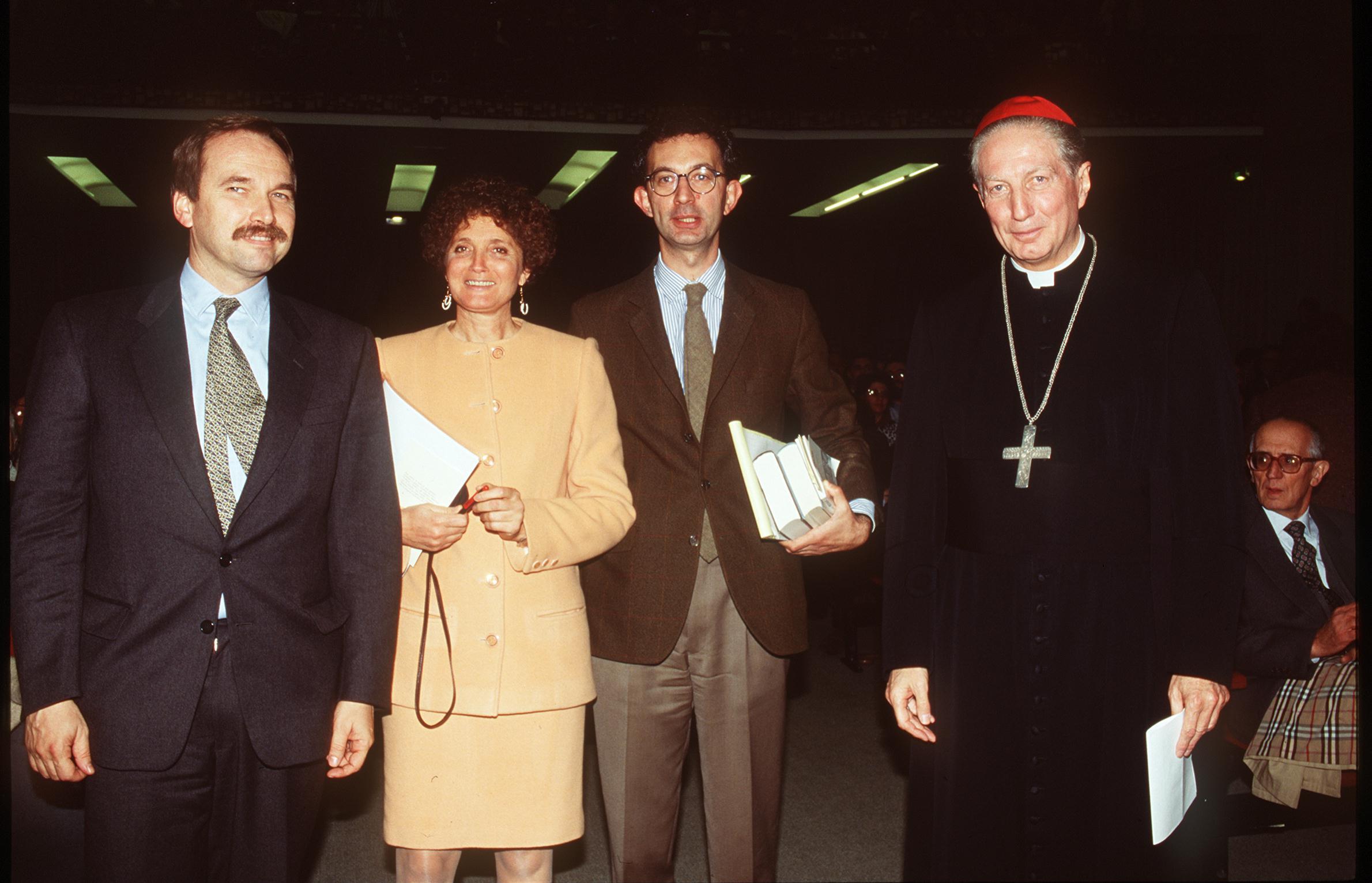 1995, VIII edizione: da sinistra, Federico Moroni, Vittoria Cova Rescalli e Marco Vigevani