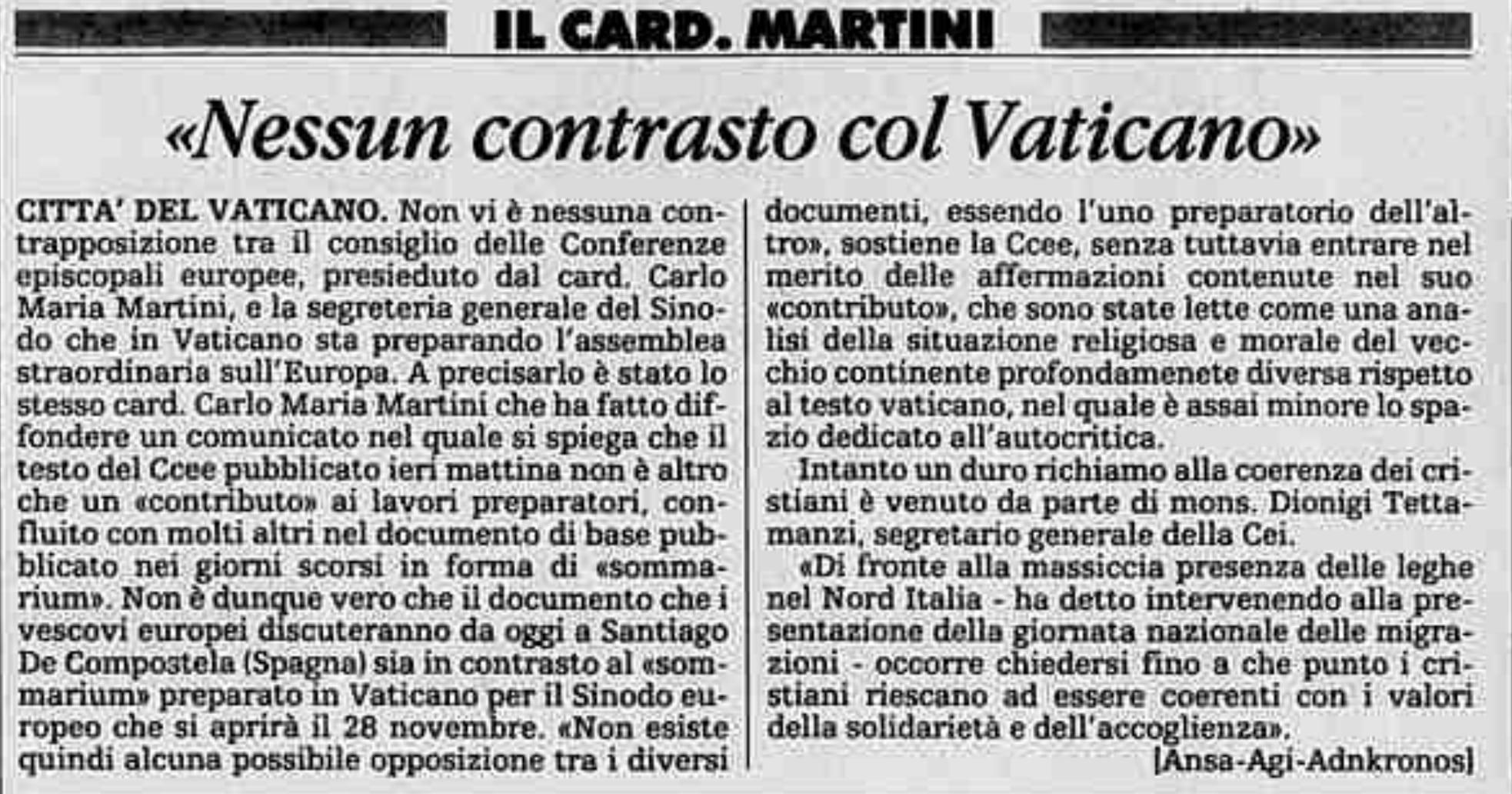 La Stampa 13 novembre 1991