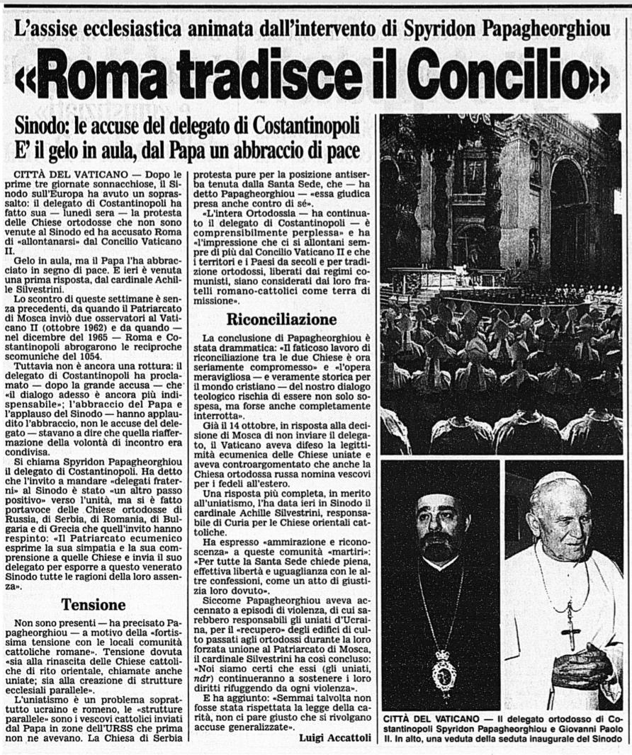 corriere della sera 4 dcembre 1991