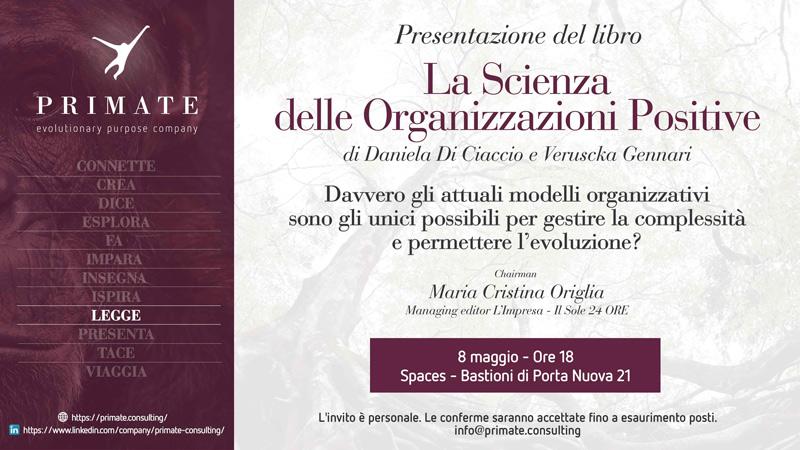 Presentazione del libro 'La scienza delle Organizzazione Positive'